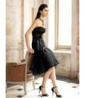 Krátke spoločenské šaty bez ramienok 1261