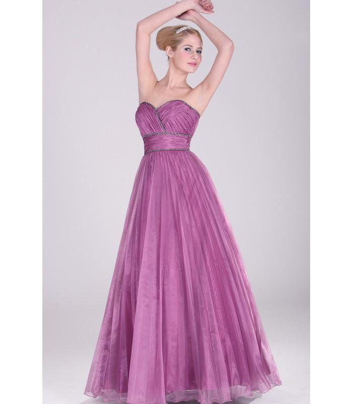 ... Dlhé fialové plisované spoločenské šaty 2810616. Výpredaj d22712dbc6d