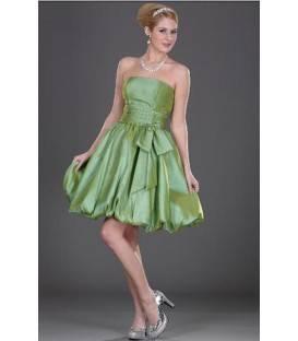 Krátke korzetové zelené spoločenské šaty 7101004